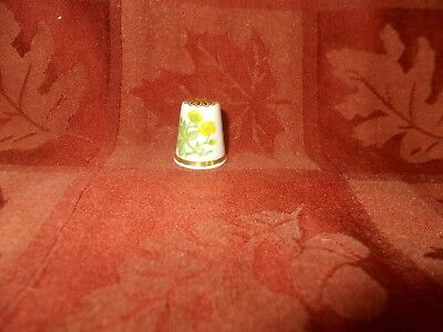 pretty yellow floral thimble by spode