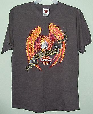"HARLEY-DAVIDSON Motorcycles ""FEARLESS"" Flaming Eagle TAMPA FL T-Shirt Size LARGE"