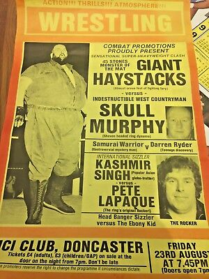 VINTAGE BRITISH WRESTLING POSTER ADVERT and SIGNED ITEM - HOGAN POSTER ALSO!!!!