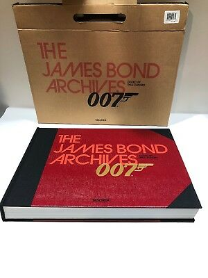 1st Edition Taschen The James Bond Archives 007 OUT OF BOX ONCE Huge Book