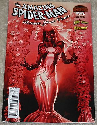 Amazing Spider-Man Renew Your Vows 3 Mary Jane Red Mike Deodato Variant 678 Hot!