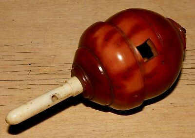 A Coquilla Nut Whistling Spinning Top With Bone Handle. No 2