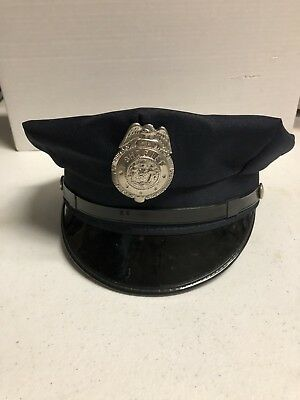 Midway Cap Co w/Sheriff Badge, 7 1/8 Navy Blue, MC Chicago