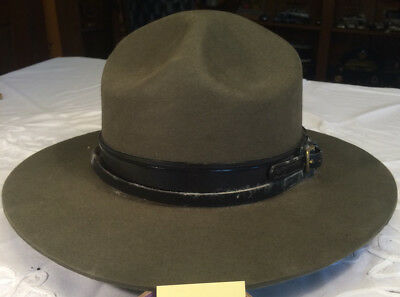 Olive Green Stratton Trooper style hat - Vintage