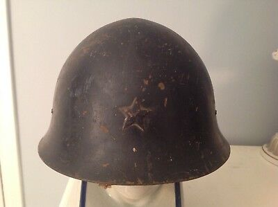 Camouflaged  WWII Japanese Army Type 90 Helmet