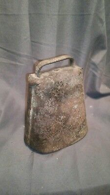 Antique Cow Bell Hand Forged Primitive Rustic Farm
