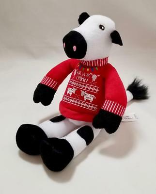 2018 Chick Fil A Holiday Cow Ugly Xmas Sweater Plush Stocking