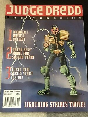 judge dredd the megazine Number 31 Good Condition