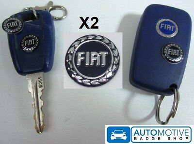 X2 Badge Logo Emblem Sticker to Fiat Key Fob Case PUNTO PANDA BRAVO MK2 MK3 MK4