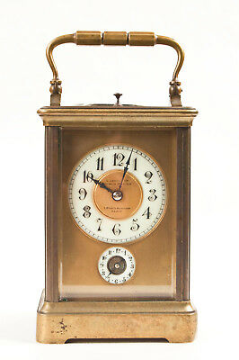 French grande sonnerie 1/4 hour repeater carriage clock @1890 Leroy & Cie, Paris
