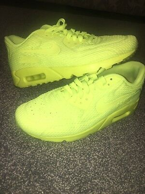 bb15c24ed4 RARE Mens Nike Air Max 90 Ultra BR Breathe Trainers Size UK 8 Neon Green