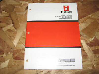 Case Ingersoll 3012, 3014, 3016, 3018, 4016,4020 Riding Mower Operators Manual