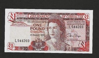 CRISP AND UNCIRCULATED 1988 Gibraltar 1 Pound, P20