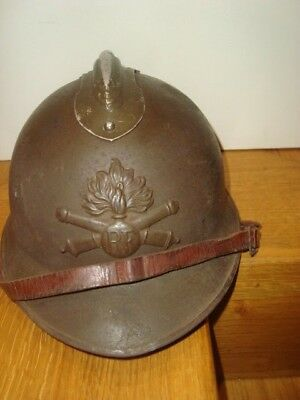 Casque Adrian mod 26 attribut 15 artillerie complet POILU FRANCE 40 WW2