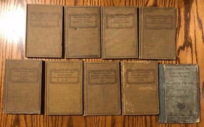(9) Antique Eclectic English Classics Copyrights in early 1900's