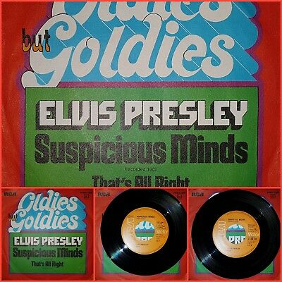 Elvis Presley ,Suspicious Minds, That's All Right, Single, Germany
