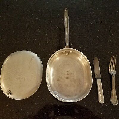 World War 1 Mess Kit with Knife and Fork France 1917-18