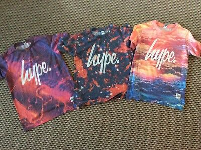 Boys Hype Tshirts Tops Bundle Of 3 Age 11-12 Years