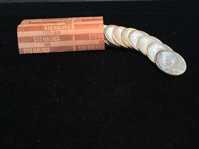 Roll Of (20) 1964 90% Silver Kennedy Half Dollars No Reserve Auction !!!!!!
