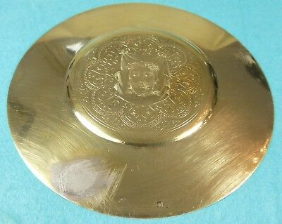 French Sterling Silver Gilt Host Paten Fine Chased Jesus Christ Head Paris C1870