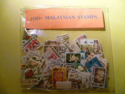 Collection Of 100+ Used Malaysia Stamps
