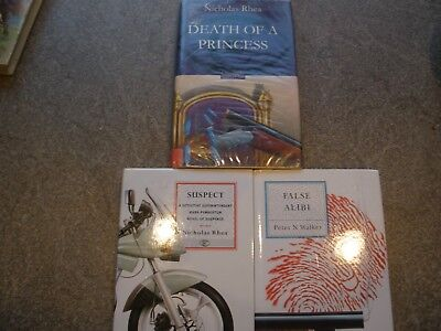 Suspect By Nicholas Rhea And False Alibi By Peter N Walker Collection of 3 Books