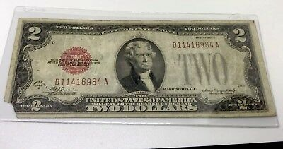 Two Dollar Bill-Series 1928 D-Very Rare-well circulated