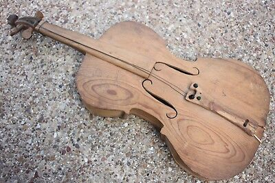 Folk Art Violin Hand Made Appalachian Mountain Fiddle