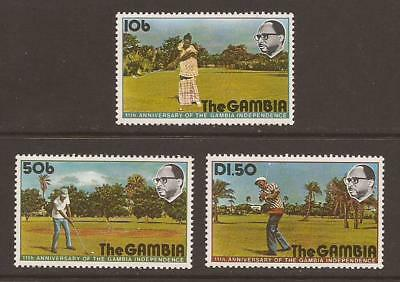 GAMBIA 1975 SG346/348 11th Anniv of Independence Set MNH (WJ439)