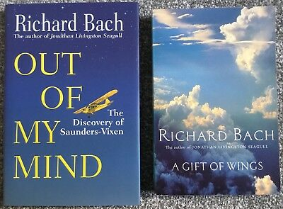 2 x Richard Bach Books - A Gift of Wings & Out Of My Mind. (The Joy Of Flying)