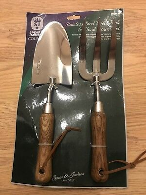 Spear And Jackson Stainless Steel Trowel And Fork Set.