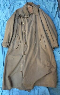 WW2 US ARMY FIELD OFFICERS TRENCH COAT with REMOVABLE LINER ENGLISH MADE WWII