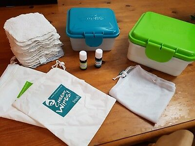 Cheeky Wipes Kit - Reusable Wipes, Boxes, Bags and Oils