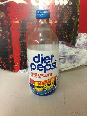 "DIET Pepsi Bottle Foam Label ""New Great Taste"" Excellent Condition."