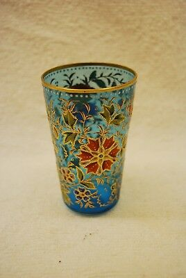Beautiful Victorian Heavily Decorated Bohemian Moser Champagne Tumbler 1880S