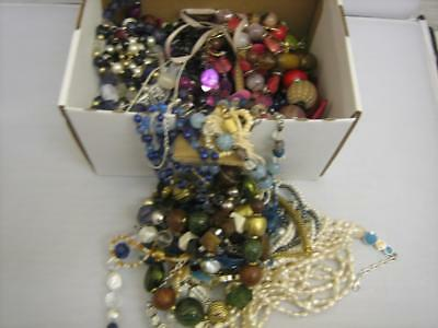 Job Lot of Costume Jewellery Mostly Beads, Possible Craft or Wear. C-0197-CC-W49