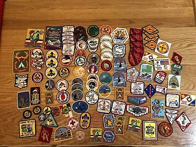 Large Vintage Lot Of Boyscout Patches Etc.from The 1960's-70's