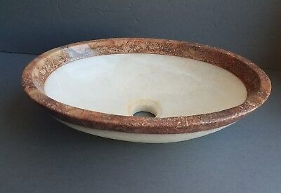 Onix and Travertine Marble Top Vessel Sink ( handmade )