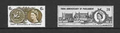 GB 1965 700th ANNIVERSARY OF S de M PARLIMENT STAMP SET ORD MNH