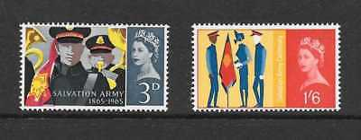 Gb 1965 Salvation Army Centenary Stamp Set Ord Mnh