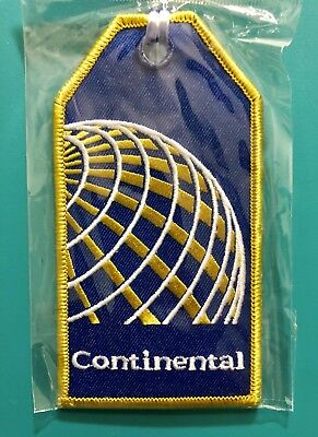 Continental Airlines Cloth Luggage Tag