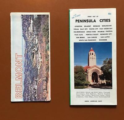Vintage Street Maps of San Mateo County and Belmont, California
