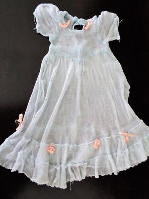 Vintage 1940s Effanbee Little Lady Anne Shirley Doll Dress BLUE TULLE Formal