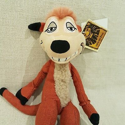 TIMON The Lion King Timone Soft Plush Toy  NEW with tags