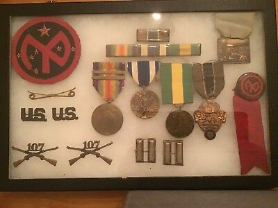 Ww1 Us Army 27Th Infantry Division Patch W/other Officers Items