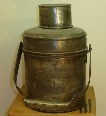"Tall Round Tinsmith Handle Coal Miners Lunch Pail Dinner Bucket 9 1/2"" Tall 4Pcs"