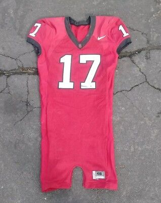 Stanford Cardinal Football Jared Newberry Game Used Nike Jersey NCAA