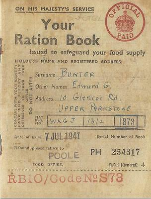 Ration Book World War 2 Home Front 1939-1945 Food Office Rationing Making Do