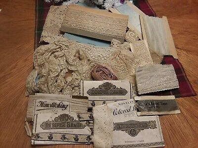 Assorted ANTIQUE LACE LOT SEWING Trim