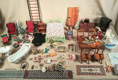 Vintage Dollhouse Furniture Lot 1:12 Scale accessories concord miniature's xacto